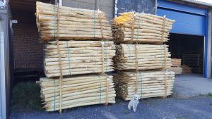 Acacia / Robinia palen 8/10 cm - 2m